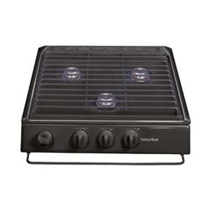 Picture of Suburban  Black 3-Burner Piezo Slide-In Cooktop 3100A 07-0216