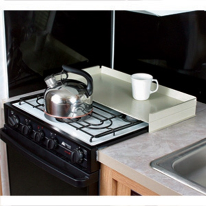 Picture of Camco  White Steel Universal Fit Stove Top Cover 43557 07-0292