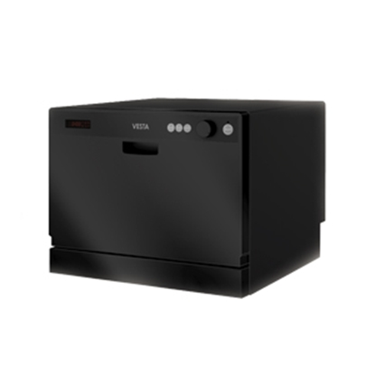 Picture of Splendide VESTA (TM) Black Vesta Countertop Dishwasher DWV322CB 07-0494