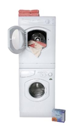 "Picture of Splendide Splendide (R) 24"" White Stackable Vented Clothes Dryer TVM63XNA 07-0537"