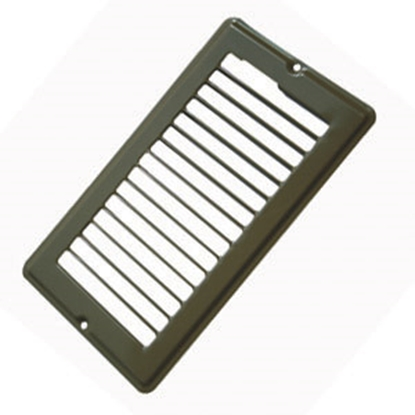 "Picture of AP Products  Brown 4""W x 8""L Floor Heating/ Cooling Register w/o Damper 013-632 08-0154"