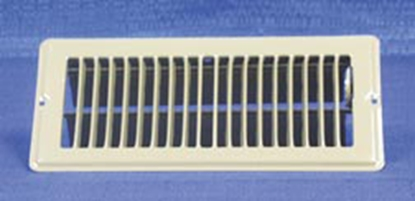 "Picture of AP Products  Brown 4""W x 8""L Floor Heating/ Cooling Register w/Damper 013-626 08-0157"