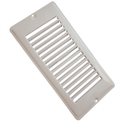 "Picture of AP Products  White 4""W x 8""L Floor Heating/ Cooling Register w/o Damper 013-631 08-0160"