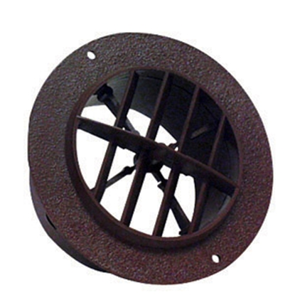 "Picture of D&W INC.  Walnut 4"" Round 360 Deg Rotation Ceiling Heating/ Cooling Register w/Damper 3840RWN 08-0226"