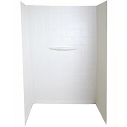 "Picture of Better Bath Better Bath 1-Piece White 27""L x 54""H Shower Surround 210400 10-0022"