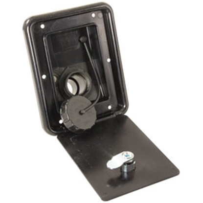 Picture of JR Products  Black Lockable Gravity Hatch Fresh Water Inlet A6113-A 10-0034