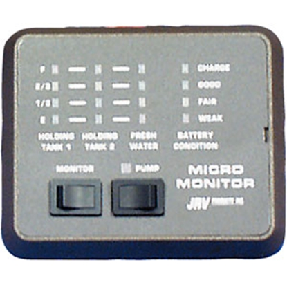 Picture of JRV Products  Small Monitor Panel for 3 Tanks Plus Battery A7748RBL 10-0054