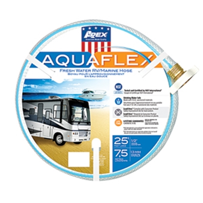 "Picture of Apex AQUAFLEX (R) 1/2""x25' Fresh Water Hose w/ ThumThing Coupling 7503-25 10-0082"