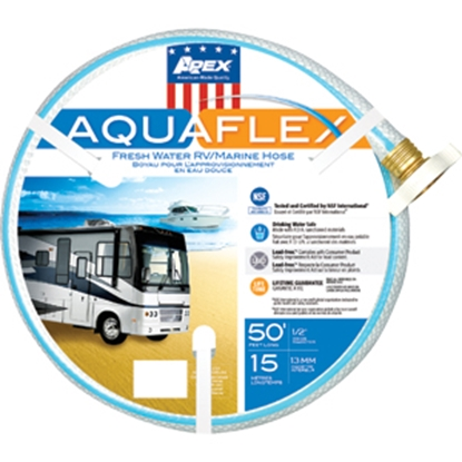 "Picture of Apex AQUAFLEX (R) 1/2""x50' Fresh Water Hose w/ ThumThing Coupling 7503-50 10-0083"