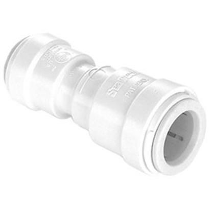 "Picture of Sea Tech 35 Series 1/2"" Fem QC Copper Tube x 1/4"" Fem QC OD Tube Off-White Polysulfone Fresh Water Reducing Union 3515R-1004"