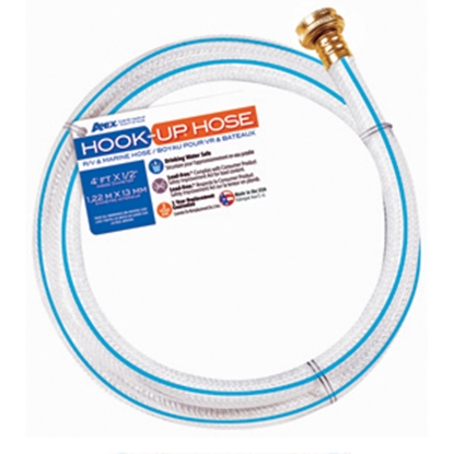 "Picture of Apex  1/2""x4' Hook-Up Fresh Water Hose 7533-4 10-0092"