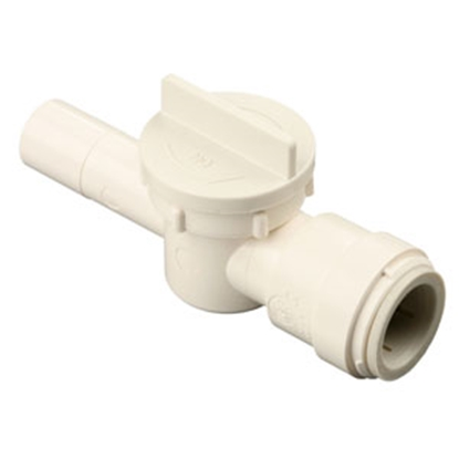 "Picture of Sea Tech 35 Series 1/2"" CTS Male Stem x 1/4"" Female QC Tube Polysulfone Straight Stop Valve 3543R-1004 10-0104"