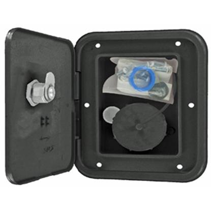 Picture of Valterra  Black Metal Lockable Gravity Hatch Fresh Water Inlet A01-2002BKVP 10-0171