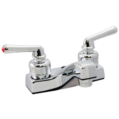 """Picture of Phoenix Faucets  Chrome w/ Teapot Handles 4"""" Lavatory Faucet PF212308 10-0192"""