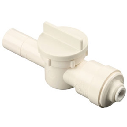 "Picture of Sea Tech 35 Series 1/2"" CTS Male Stem x 1/4"" Female QC Tube Polysulfone Straight Stop Valve 013543-1004 10-0305"