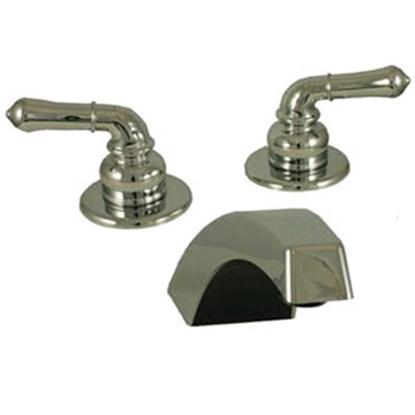 Picture of Empire Brass Ultra Line Chrome w/Teapot Handles Lavatory Faucet w/Hi-Arc Spout U-YCH29 10-0314