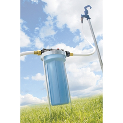 Picture of Camco / Hydro Life TastePURE (TM) In-Line Canister EVO KDFR & GAC Fresh Water Filter 40631 10-0372