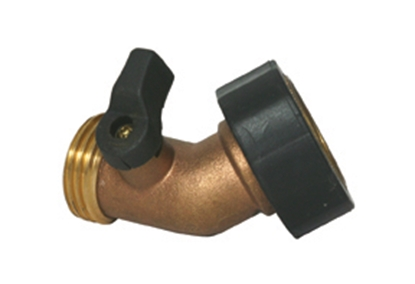 Picture of Camco  Brass 45 Deg Hose Shut-Off Valve 20173 10-0577