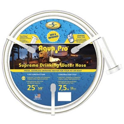 "Picture of Aqua Pro Supreme 5/8""x25' Fresh Water Hose w/ThumThing Coupling 20866 10-0652"