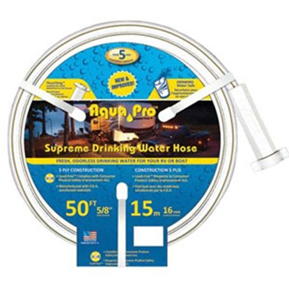 "Picture of Aqua Pro Supreme 5/8""x50' Fresh Water Hose w/ThumThing Coupling 20867 10-0655"