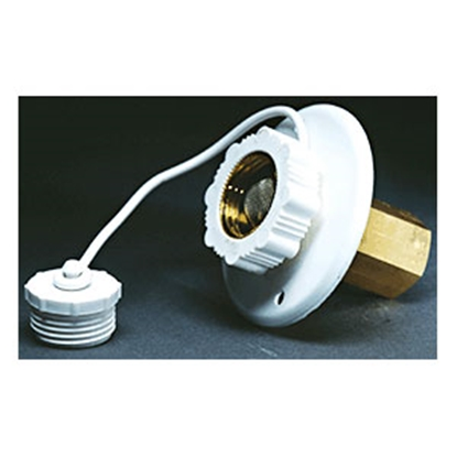 Picture of Aqua Pro  Polar White Surface Mount Flange Fresh Water Inlet 27883 10-0680