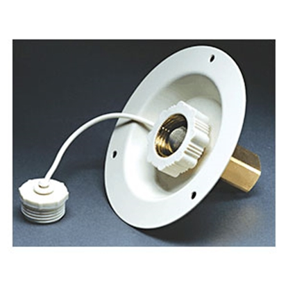 Picture of Aqua Pro  Polar White Recessed Mount Flange Fresh Water Inlet 27886 10-0691