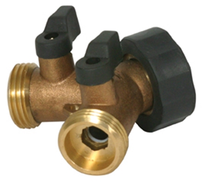 Picture of Camco  Brass Y Hose Shut-Off Valve 20123 10-0800