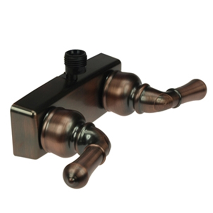 "Picture of Dura Faucet Classical Series 4"" Bronze Coated Plastic Shower Valve w/Classical Handles DF-SA100C-ORB 10-0827"