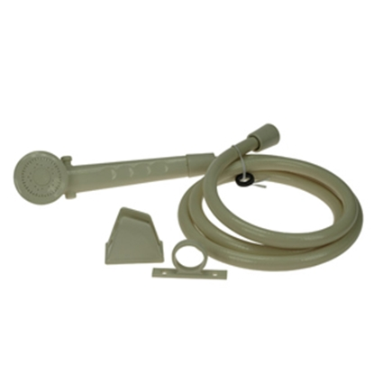 Picture of Dura Faucet  Bisque Shower Head & Hose DF-SA130-BQ 10-0839