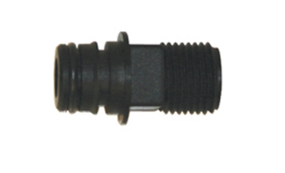 "Picture of Flojet  QC Quad With EPDM O-Ring x 1/2"" Output Plastic Fresh Water Straight Fitting 20381000 10-0913"
