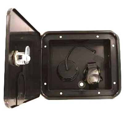 Picture of Valterra  Black Brass Lockable Gravity Hatch Fresh Water Inlet A01-2000BK 10-1088