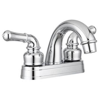 Picture of Dura Faucet  Chrome w/2 Teapot Handle Classical Arc Lavatory Faucet DF-PL620C-CP 10-1187