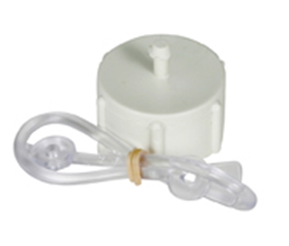 "Picture of Camco  Box-24 Plastic Fresh Water Hose Cap For 3/4"" Hose w/Lanyard 22204 10-1214"