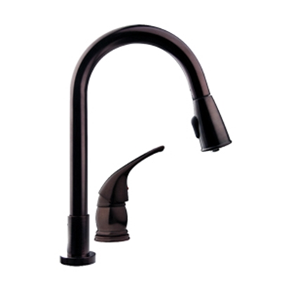 Picture of Dura Faucet  Bronze w/Single Lever Kitchen Faucet w/Pull-Down Spout DF-NMK503-VB 10-1288