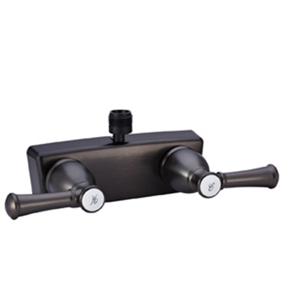 "Picture of Dura Faucet Designer Series 4"" Bronze Coated Plastic Shower Valve w/Designer Handles DF-SA100L-VB 10-1325"