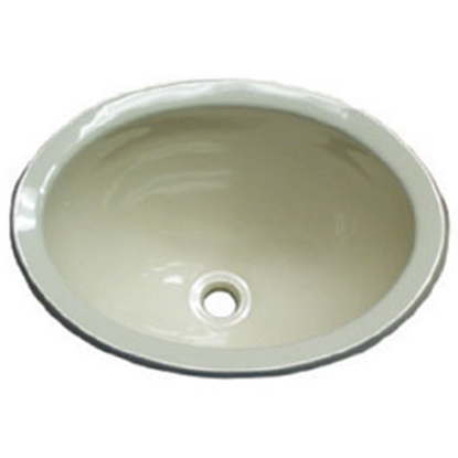 "Picture of Lasalle Bristol  Ivory Plastic 10"" x 13"" x 5-1/2 Deep Oval Sink 16156PP 10-1362"