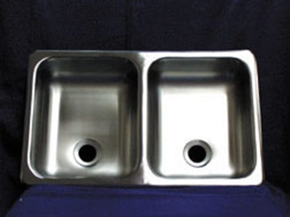"Picture of Heng's  Double Bowl 25""W x 15""L Stainless Steel Sink SSD-2515-5-22 10-1375"