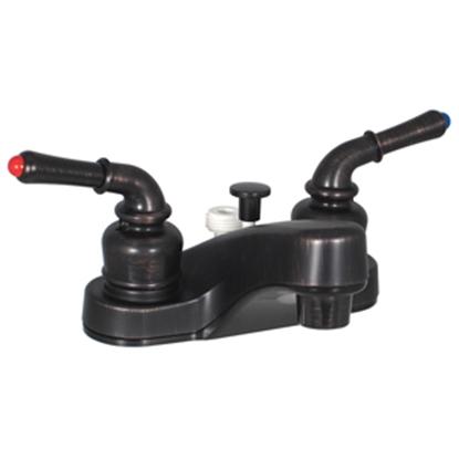 """Picture of Phoenix Faucets  Bronze w/Teapot Handles 4"""" Lavatory Faucet PF222541 10-1387"""