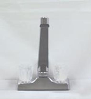 """Picture of Utopia  Chrome w/2 Clear Knob D-Spout 4"""" Kitchen Faucet 20315R219 10-1440"""