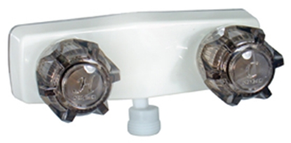"Picture of Phoenix Faucets  4"" White Plastic Shower Valve w/Smoke Knobs PF213245 10-1447"