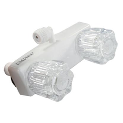 """Picture of JR Products  4"""" Polar White Shower Valve w/Knob Handle QQ-SHMI-A 10-1592"""