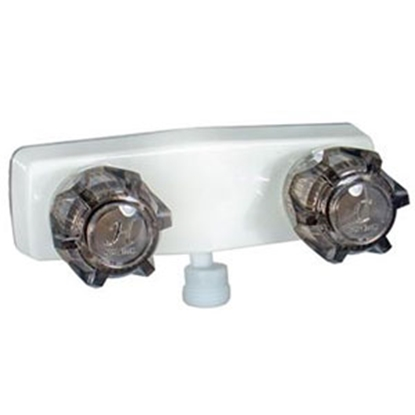 "Picture of Phoenix Faucets  4"" White Plastic Shower Valve w/Smoke Knobs PF213243 10-1679"