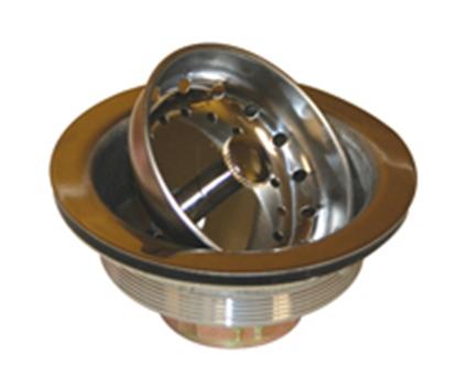 "Picture of Howard Berger AquaPlumb (R) 4"" Stainless Steel Sink Strainer w/ Basket 2115 10-1704"