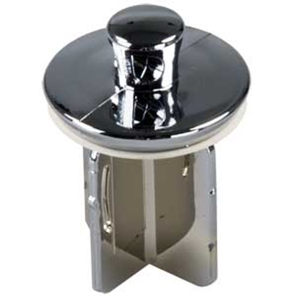 "Picture of JR Products  1-1/4"" Chrome Plated Plastic Pop-Up Sink Drain Stopper 95245 10-1718"