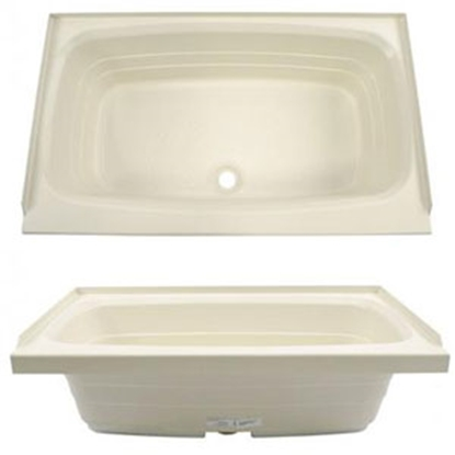 "Picture of Better Bath Better Bath Parchment 24""x38"" Center Drain ABS Standard Bathtub 209379 10-1729"