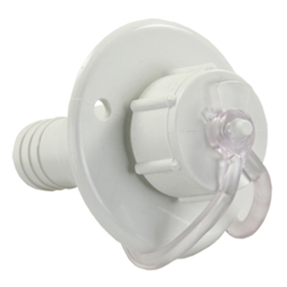Picture of JR Products  White Vinyl Drain Trap 95185 10-1758