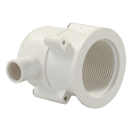Picture of JR Products  White Vinyl Drain Trap 95195 10-1759