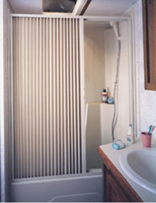 "Picture of Irvine  Ivory 48"" x 57"" Folding Shower Door 4857SI 10-2068"