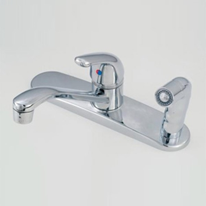 "Picture of American Brass  Chrome w/Single Lever 8"" Kitchen Faucet w/D-Spout SL801F-3 10-2311"