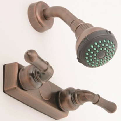 "Picture of Empire Brass  4"" Bronze Coated Plastic Shower Valve w/Teapot Handles U-YOB54OB 10-2380"